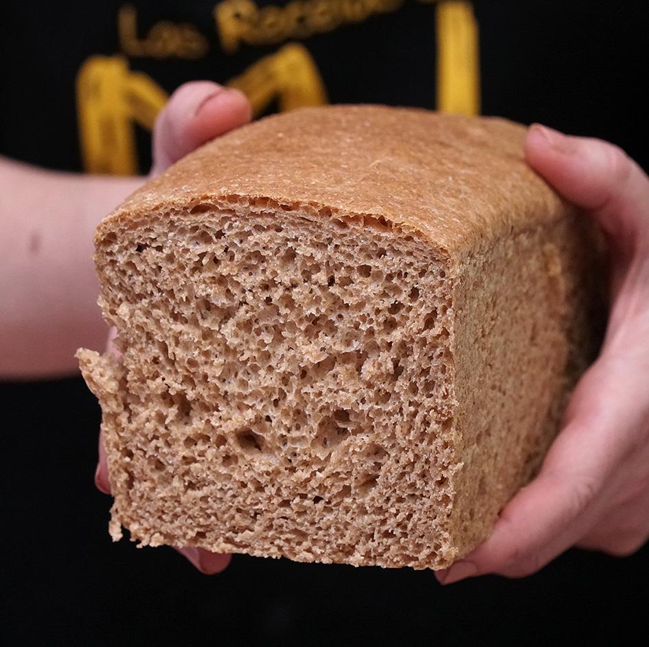 Pan de molde sin levadura