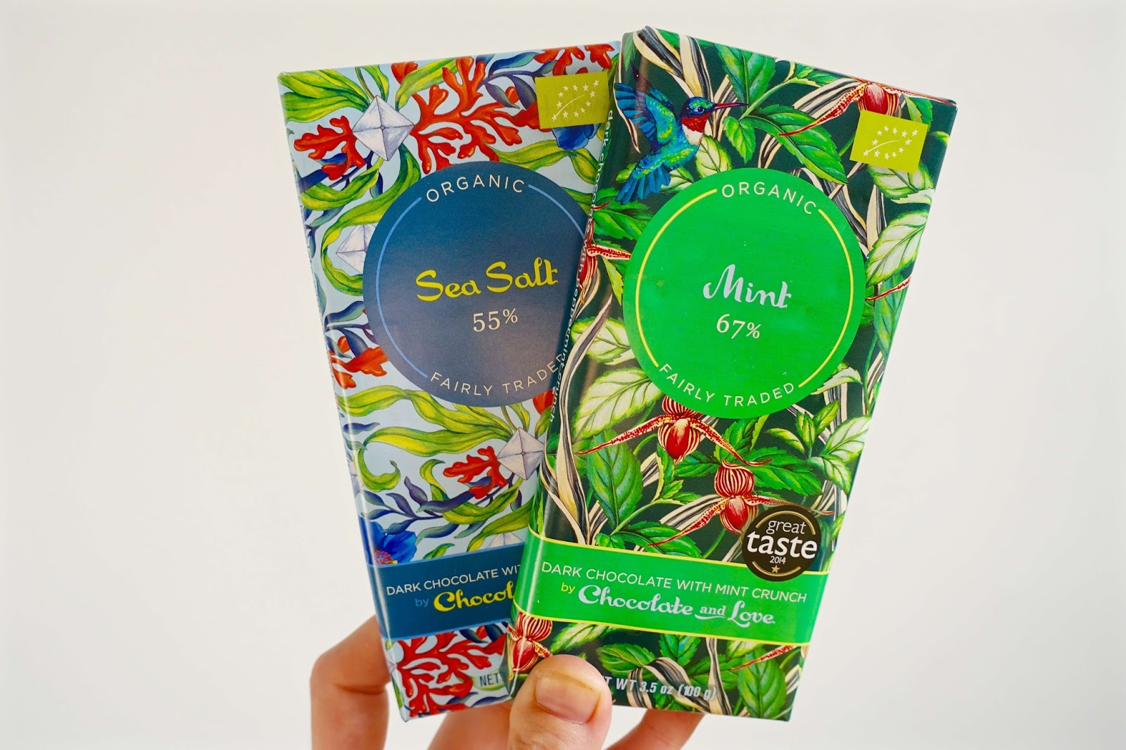 sea salt and mint organic chocolate