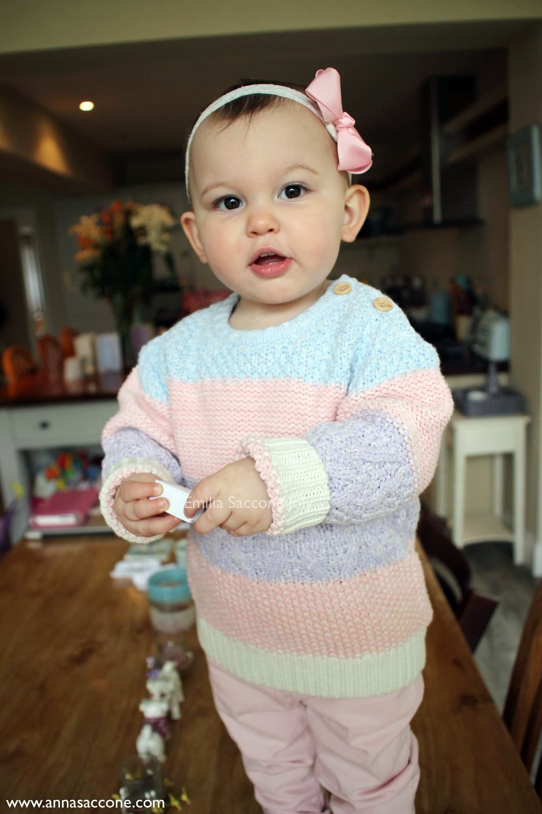 e992735fae0 Emilia is all in pastels today! She is wearing her new jumper & jeans from  Next, a pink bow from Layniebug Designs & lace headband from Heather's  Bonny Bows ...