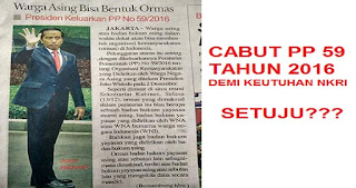 Presiden Jokowi Diminta Cabut PP Soal Warga Asing Boleh Mendirikan Ormas di Indonesia