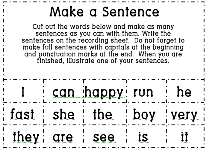 what is a word made up of 4 letters 1st grade learning make a sentence 1711