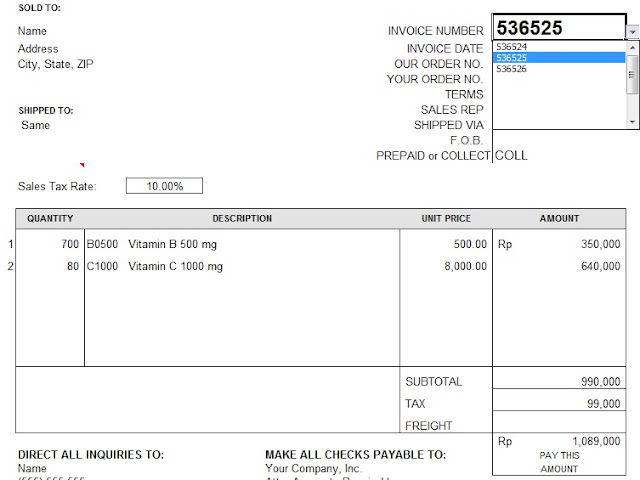 Membuat Form Sales Invoice Lebih Fleksibel Excel Base