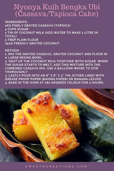 KUIH BENGKA UBI (CASSAVA/TAPIOCA CAKE) RECIPE