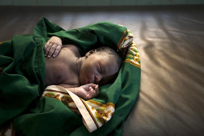 Newborn baby in Kenya