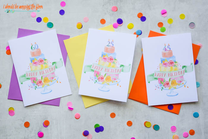 Numerical Birthday Cards