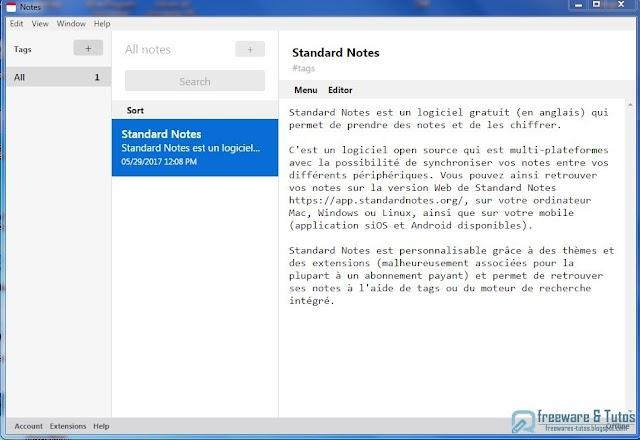Standard Notes : un logiciel de prise de notes sécurisé et chiffré