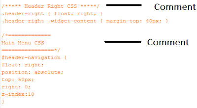 Comment in HTML Example