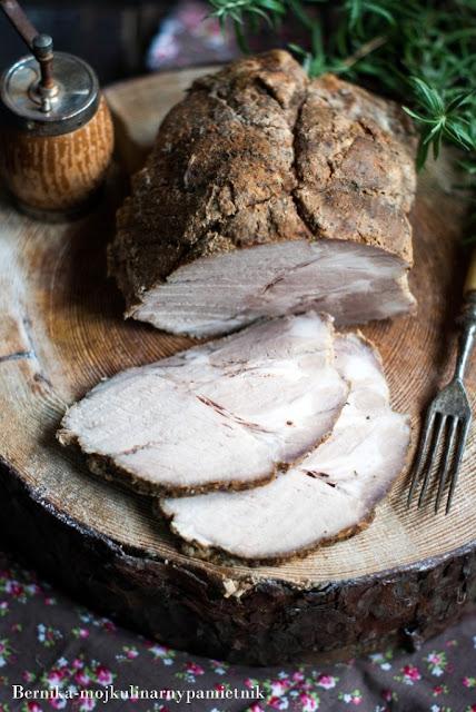 karczek, karczek w soli, wieprzowina, pork, obiad, dietetycznie, bernika , kulinarny pamietnik, pieczony karczek, mieso