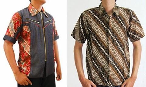 model baju kemeja batik pria gemuk