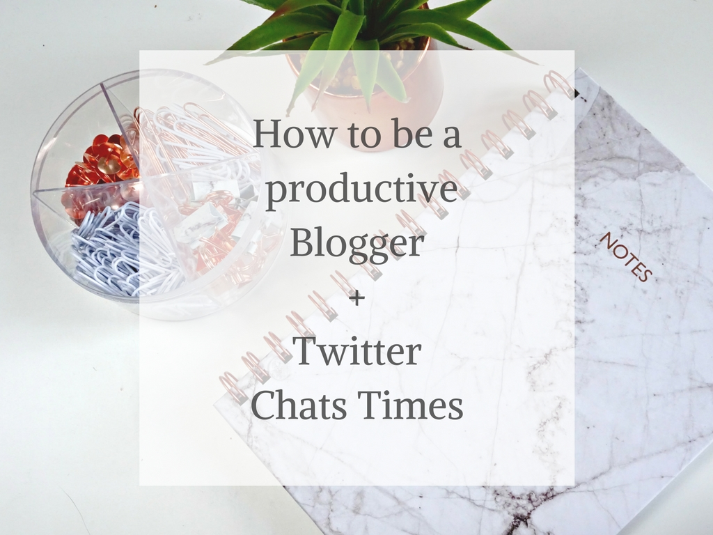 productivity and twitter chat times