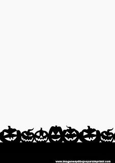 folio de halloween con calabazas para imprimir