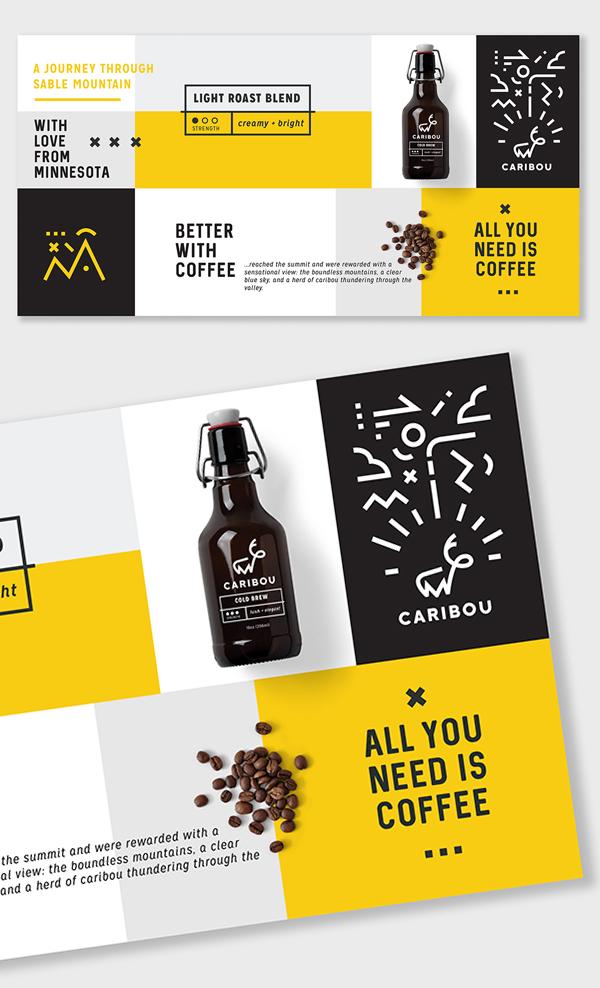 Inspirasi Desain Branding Identity - Caribou Coffee Re-Brand
