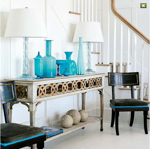 Turquoise Home Accessories Spend a Little Add a Lot to
