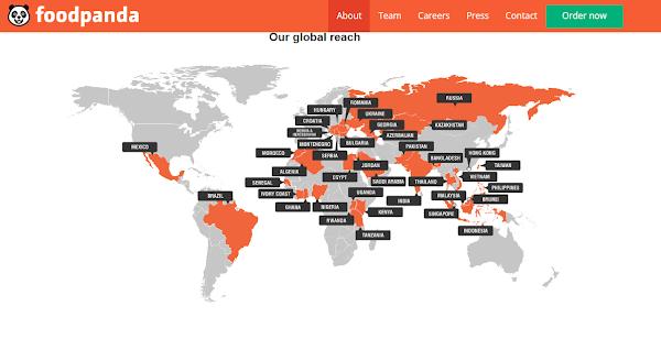 foodpanda全球布局