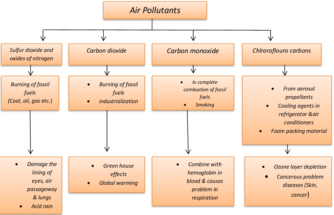 Lesson Plan Of Air Pollution Pollutants And Their Effects