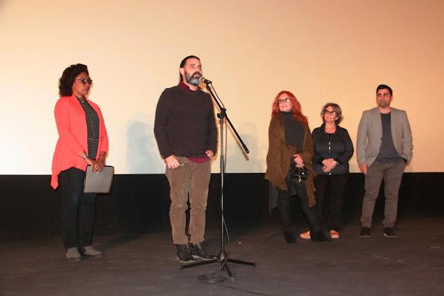 Carlos Barba Salva (director), Isabel Santos (actriz), Niuska Miniet (músico) y Abel Álvarez (director de producción y presentador de Televisión)