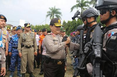 Polda Lampung Gelar Apel Pasukan Operasi Lilin Krakatau 2017