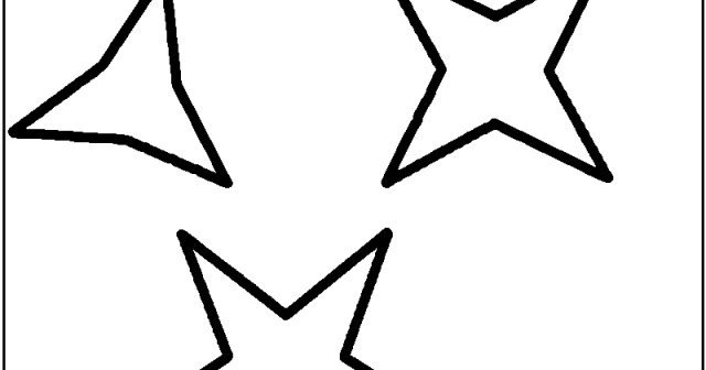 Kids Page: Star Shapes Drawing And For Kids 206945