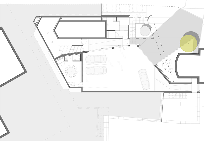 Basement floor plan of Ultra Modern House by architekti.sk, Slovakia