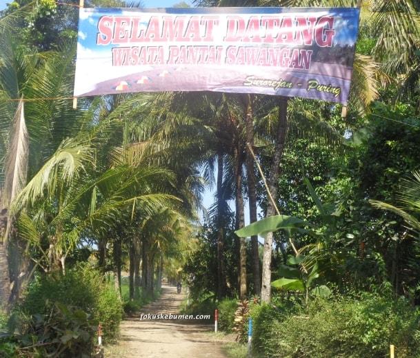 Selamat Datang Obyek Wisata Pantai Sawangan Surorejan Puring