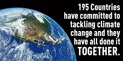 Paris Climate Conference: 195 Countries have committed to tackling climate change, and they have done it together (Credit: tcktcktck)