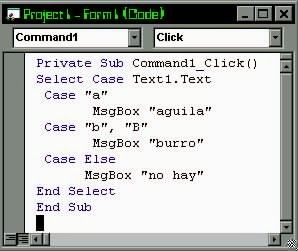 select case .net, visual basic, tutoriales2010, tutoriales