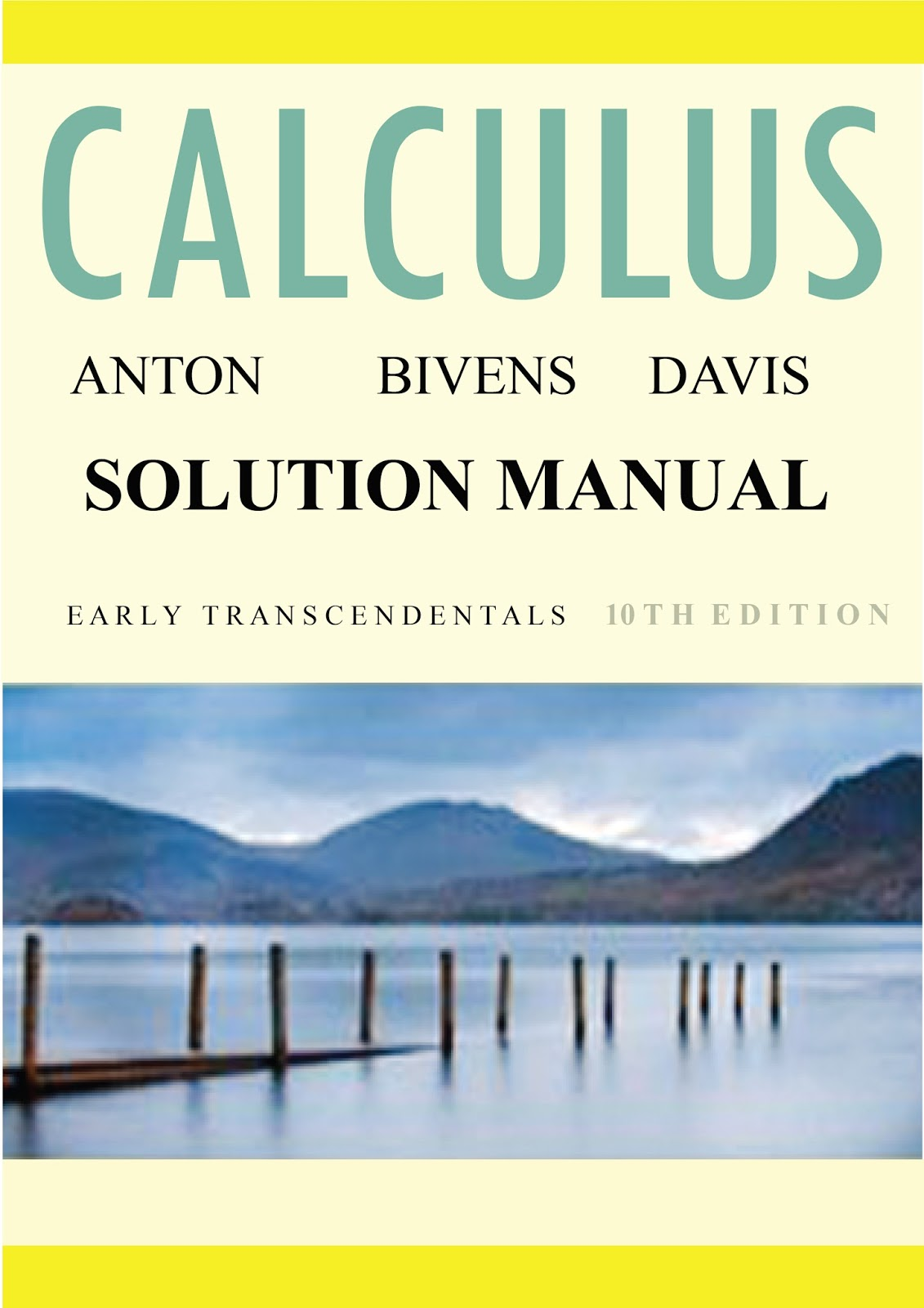 Solution of Elementary Calculus Book by Howard Anton