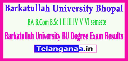 Barkatullah University BU Degree Exam Results 2018