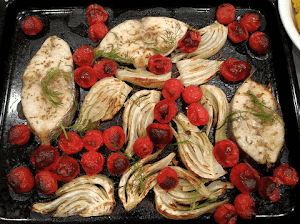 Baked Mackerel with Cherry Tomatoes