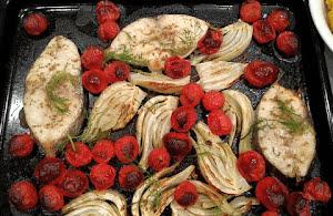 Baked Spanish mackerel