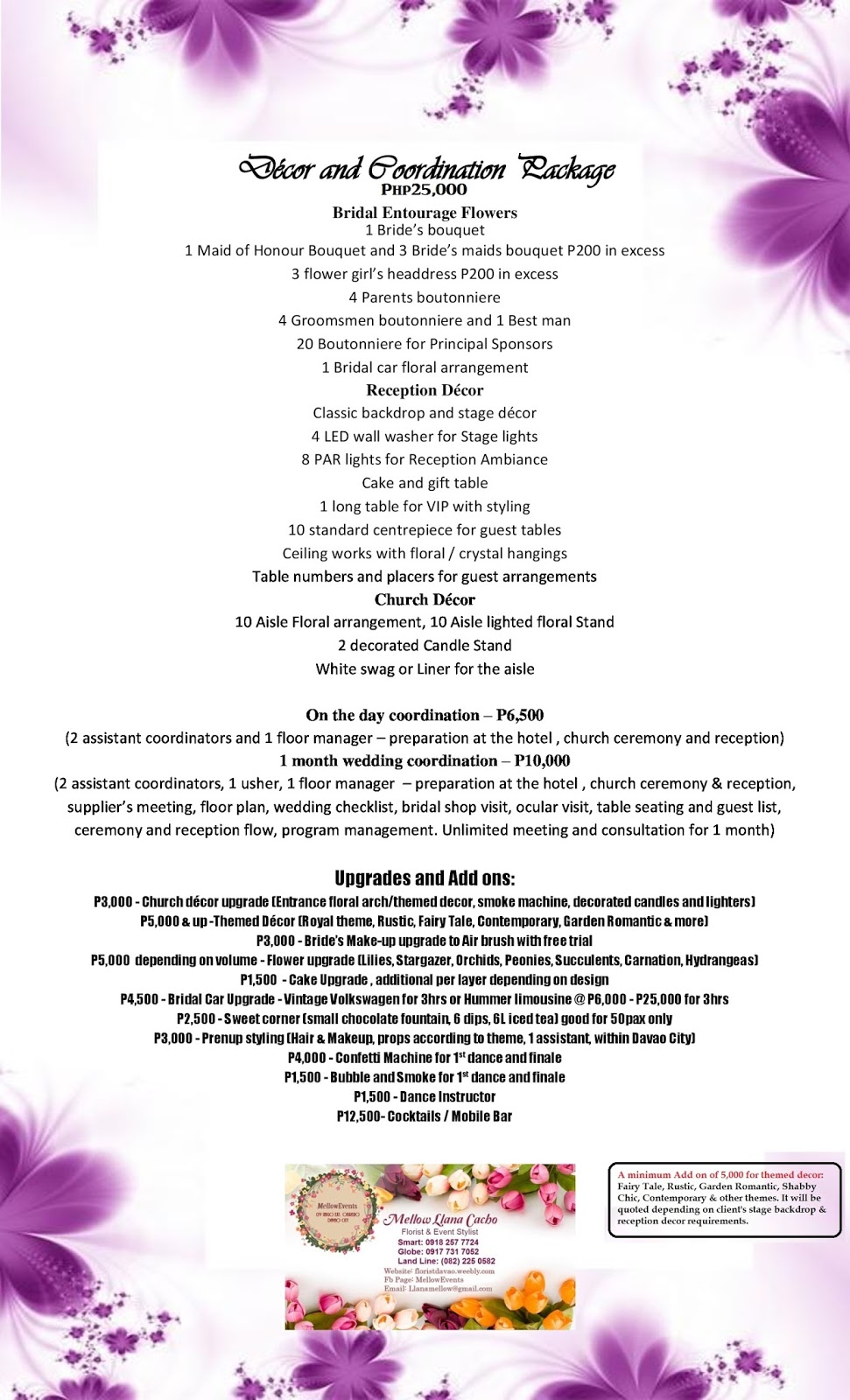 packages package events flowers hotels mellow weddings