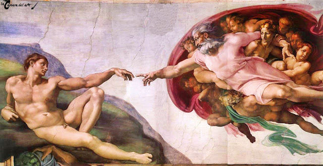 Resultado de imagen de la creación de adán