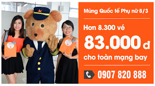Jetstar khuyến mãi vé máy bay đi Thanh Hóa chỉ 83.000 đồng