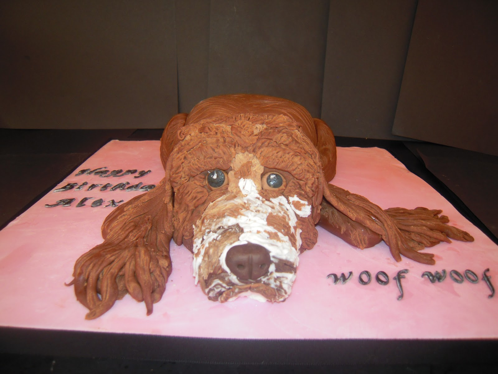 Another Cake Customer This Time A Cocker Spaniel Although Not Too Sure If It Looks Like One However Dog And Monkey Which