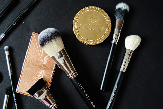 Crown Brushes Face Powder, Contour Cheel, Stippling Duo Fibre Review