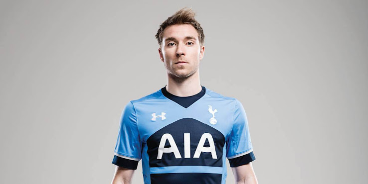 d3a1b38e32c31 The new Under Armour Tottenham Hotspur 2015-2016 Away Shirt boasts a  striking horizontal stripes design, with details in navy and white.