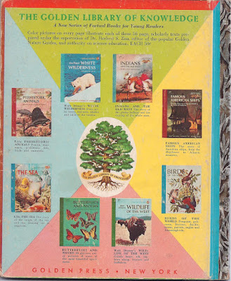 Back Cover of Golden Books: The Golden Library of Knowledge