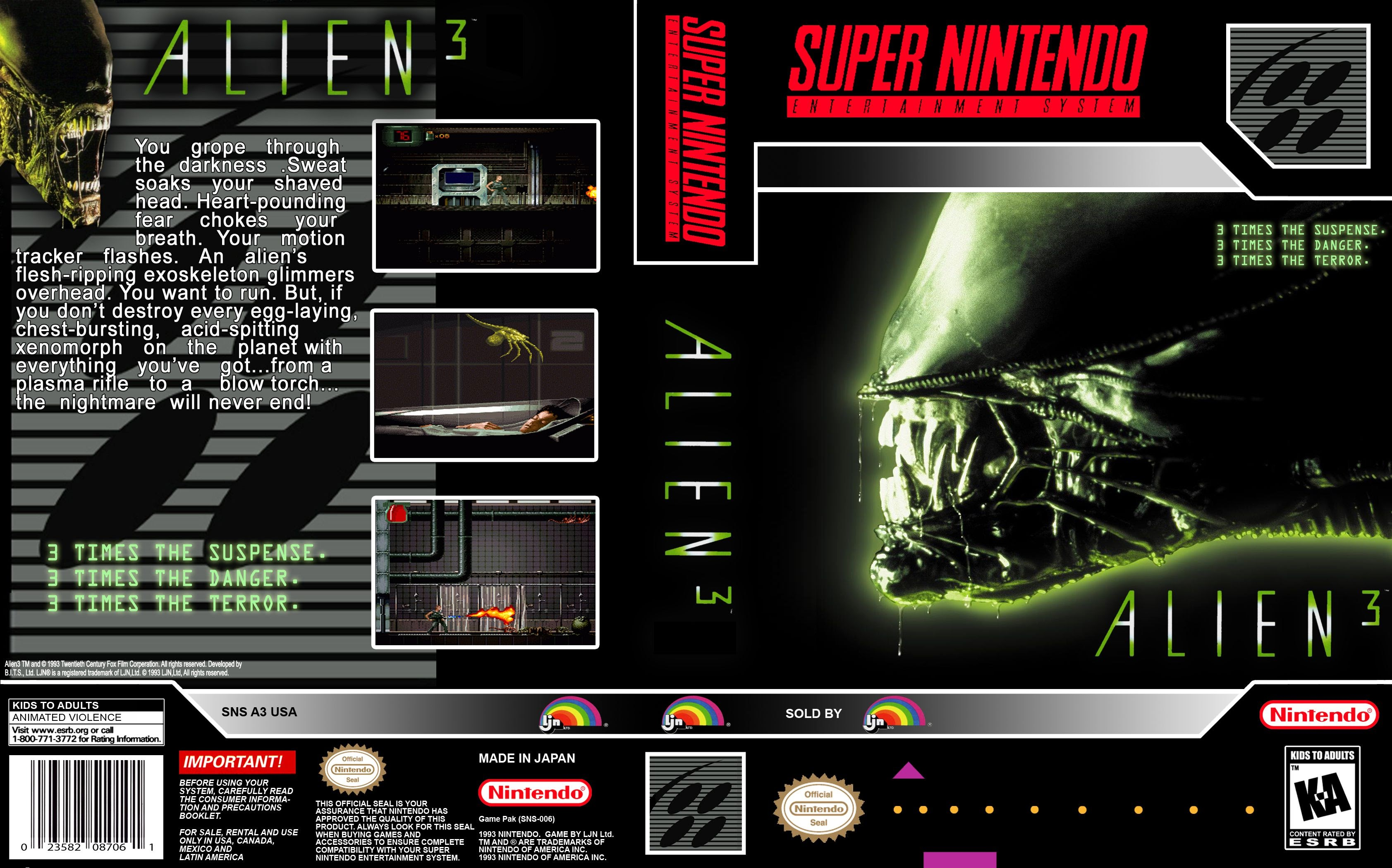 Capa Alien 3 Super Nintendo ? Cover
