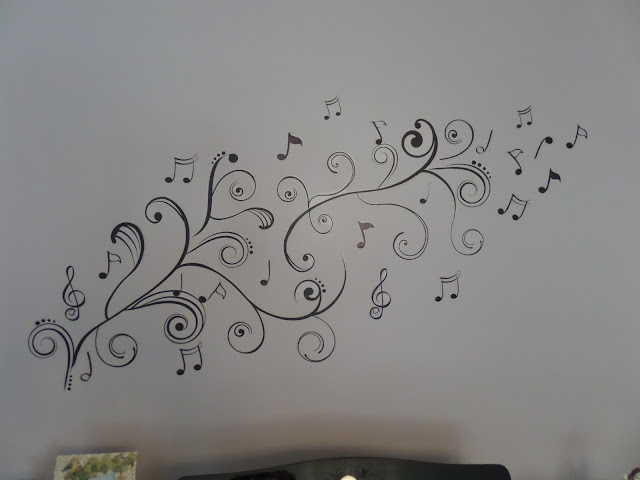 wall decals music note design
