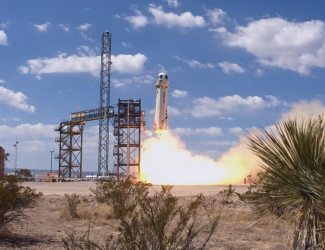 Tinuku Blue Origin successfully launched New Shepard rocket