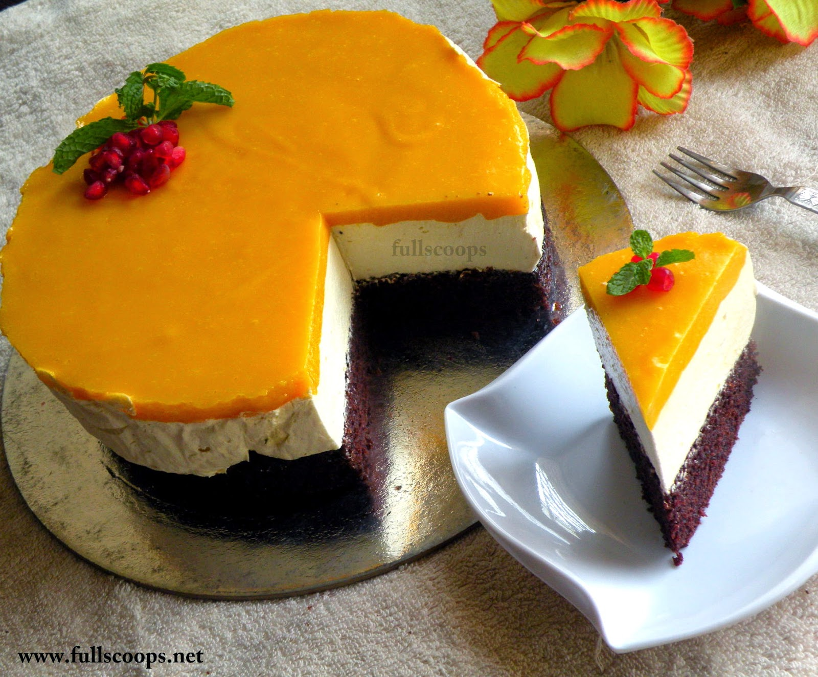 Images For Mango Cake : Eggless Mango Mousse Cake ~ Full Scoops