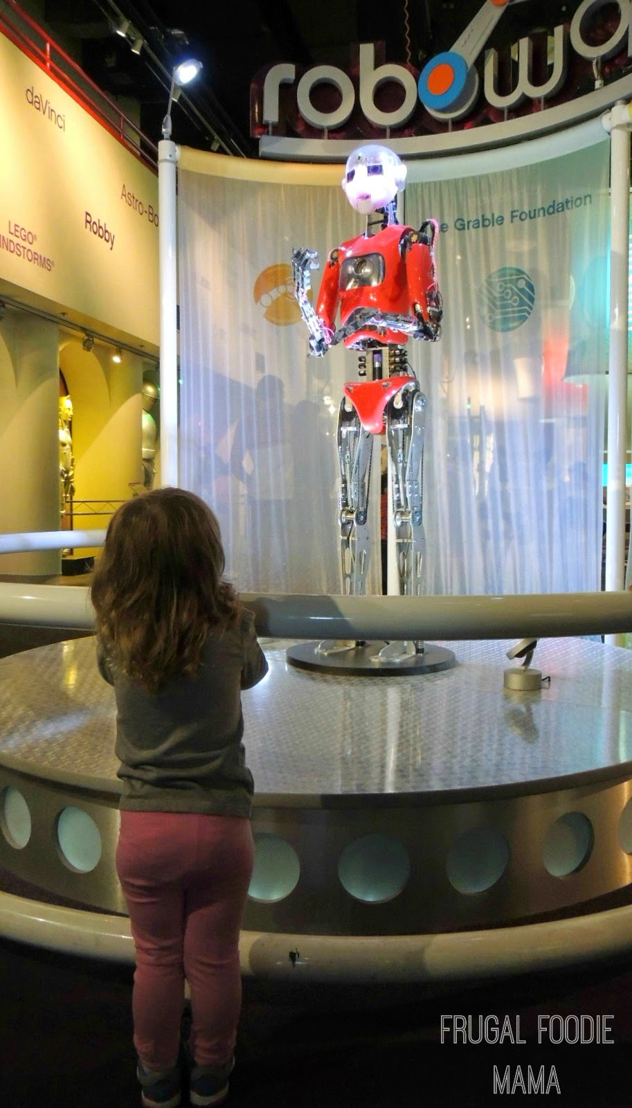 roboworld in the Carnegie Science Center via thefrugalfoodiemama.com #Pittsburgh #familytravel