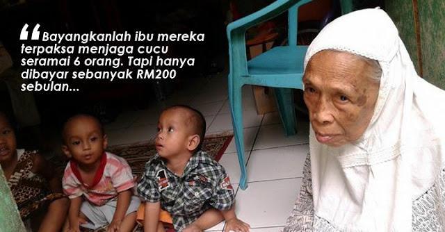Bayangkan Nenek Dibayar RM200 Sebulan Untuk Jaga Enam Cucu..