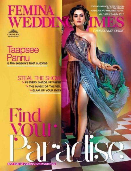 Taapsee Pannu On Femina Wedding Times November 2017