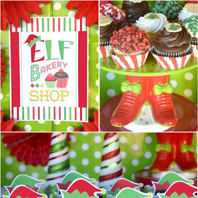 Sweet Table de Fête de Noël Petits Lutins
