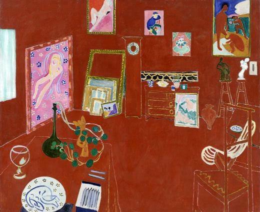 O Studio Vermelho - Pinturas de Matisse, Henri - (Fauvismo) Francês