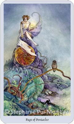 Shadowscapes Tarot Page of Pentacles