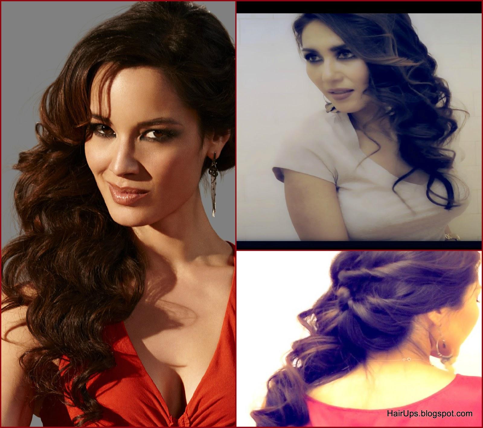 007 bond girl, side curly half-up hairstyles |cute hair tutorial video