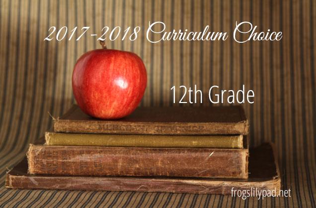 Homeschool High School Curriculum Choice {Grade 12}