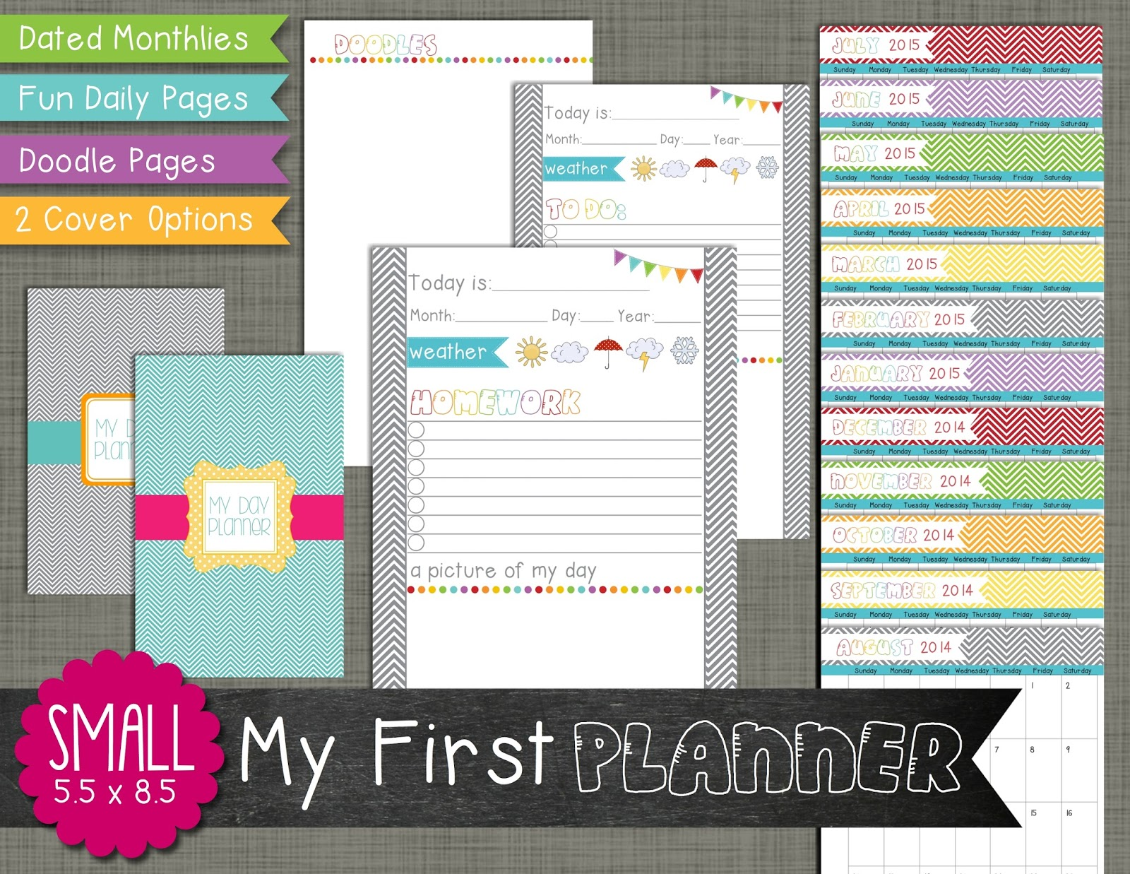 the polka dot posie introducing my first planner